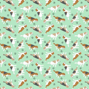 Tiny Beagles - green