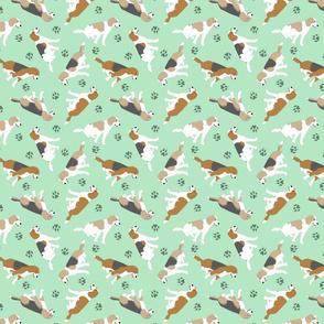 Tiny Beagles - green