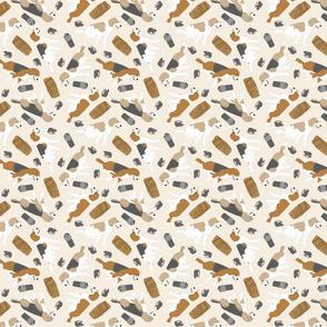 Tiny Beagles - barn hunting