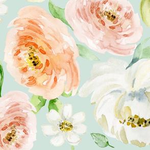 Evie Blooms Pastel Watercolors ICEBG