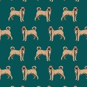 anatolian shepherd dog - anatolian dog, dog breed, dog breeds, dog fabric - dark green