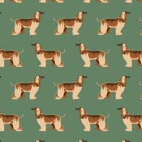 afghan hound dog fabric - afghan hound, dog fabric, afghan dog, afghan hound dog - green