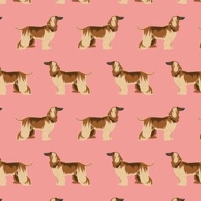 afghan hound dog fabric - afghan hound, dog fabric, afghan dog, afghan hound dog - pink