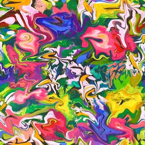Drip Painting Daisies