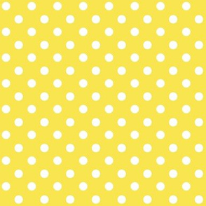 Yellow Polka Dot 1x1