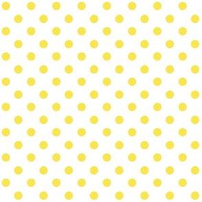 Yellow Polka Dot on white 1x1