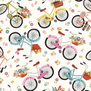 Flowery bicycles large scale