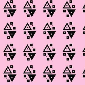 many tiny triangles