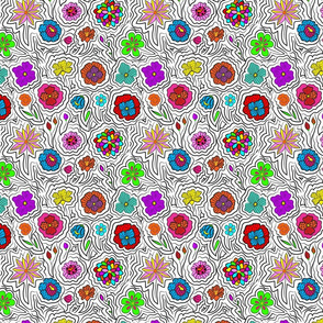 Colorful Neon Florals