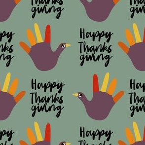 happy thanksgiving - funny hand, thanksgiving, kids thanksgiving craft, art teacher, school, kids - green
