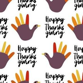 happy thanksgiving - funny hand, thanksgiving, kids thanksgiving craft, art teacher, school, kids - white