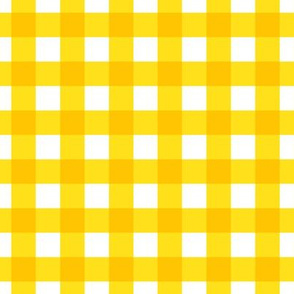 bright yellow gingham check