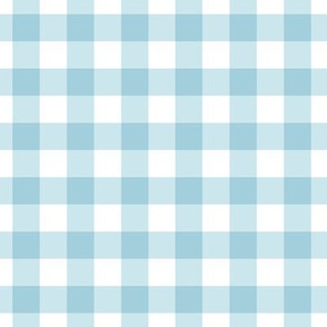 Blue gingham check plaid fabric wallpaper gift wrap