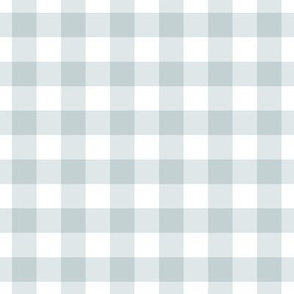 Blue grey gingham plaid check gift wrap fabric wallpaper blue gray