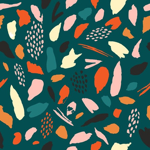 Splashes pattern in green