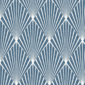 Art Deco - Denim Blue Texture