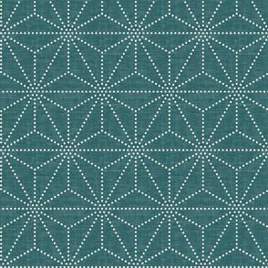 Shibori Stars - Emerald
