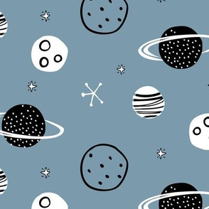 Space planets galaxy moon solar system