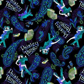 Paisley Tango Large peacock colours 40cm