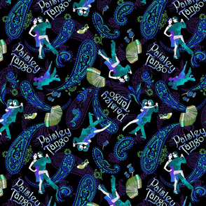 Paisley Tango Medium peacock colours 30cm