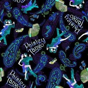 Paisley Tango Small peacock colours 20cm