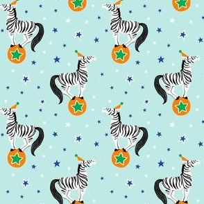 Circus Zebras Balancing on Balls - medium scale