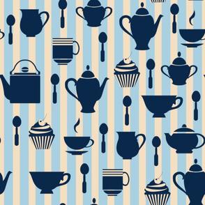 blue stripes breakfast