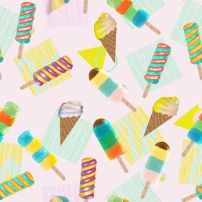 Ice pops and ice cream
