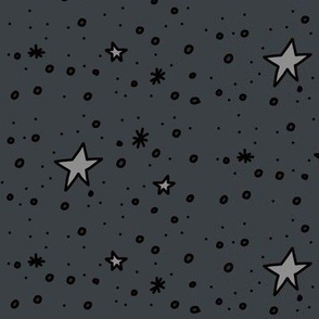 The Stars Are Out Tonight (grayscale dark)