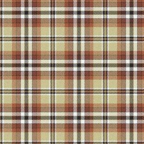 Custom Fuzzy Look brown and beige plaid