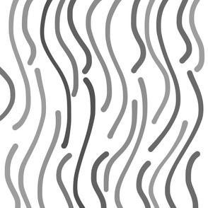 Jungle Fever - greyscale on white, large