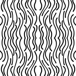 Jungle Fever - black on white, medium