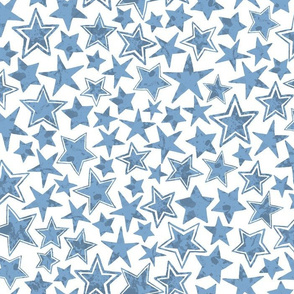 Allstars Stars Bright Blue on White