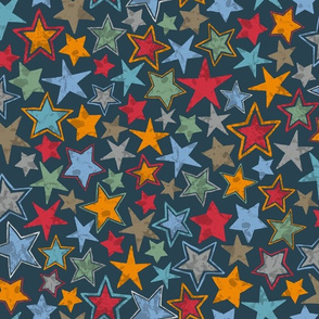 Allstars Stars Multi Color on Navy