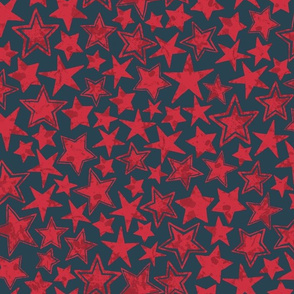 Allstars Stars Red on Navy