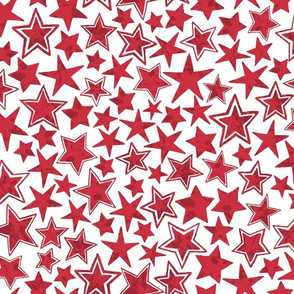 Allstars Stars Red on White