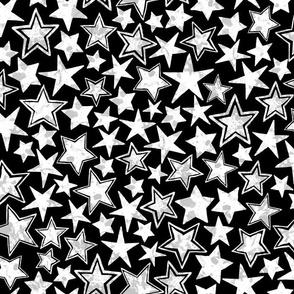 Allstars Stars White on Black