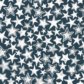 Allstars Stars White on Navy