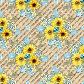 glitter sunflower gold
