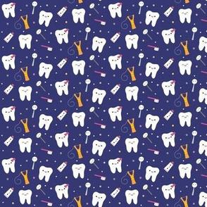 SMALL Happy Teeth & Friends - Royal Blue Tiny Mini