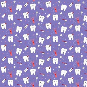 SMALL Happy Teeth & Friends - Purple