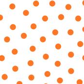 Happy Orange Polka Dots