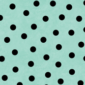 Happy Black Polka Dots On Mint