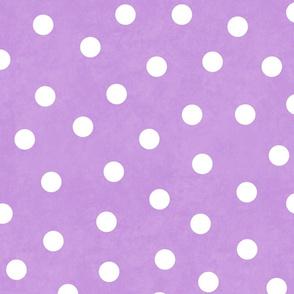 Happy White Polka Dots On Lavender