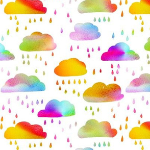 Rainbow Rainclouds - smaller scale