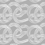 The cool kids_abstract slinky spaghetti white on grey