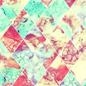 Trippy Watercolour Argyle