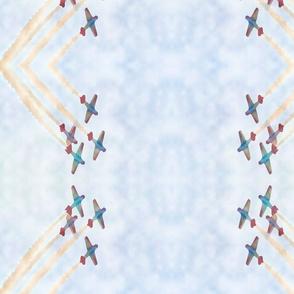 Acrobatic Team Watercolor