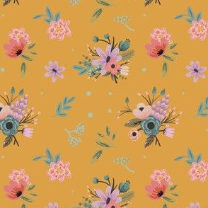 Traditional Floral on Yellow