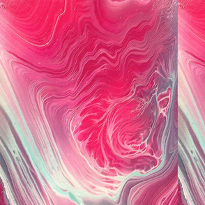 pink pour fabric